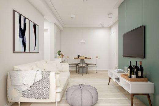 Living - Apartamento 2 quartos à venda Lapa, São Paulo - R$ 689.000 - II-6923-15625 - 6