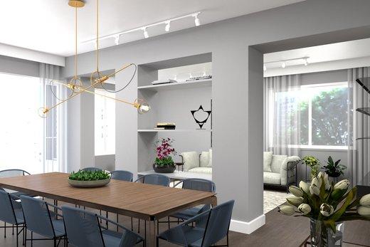 Living - Apartamento à venda Alameda Franca,Jardim América, São Paulo - R$ 3.230.000 - II-4777-12061 - 7