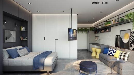 Living - Apartamento 4 quartos à venda Vila Madalena, São Paulo - R$ 2.569.760 - II-7060-15807 - 5