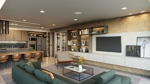 Living - Apartamento 4 quartos à venda Vila Madalena, São Paulo - R$ 2.569.760 - II-7060-15807 - 6