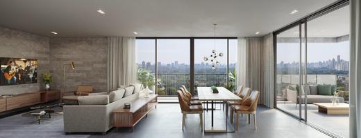 Living - Apartamento 4 quartos à venda Vila Madalena, São Paulo - R$ 2.569.760 - II-7060-15807 - 7