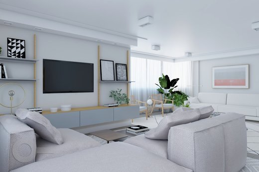 Living - Apartamento à venda Rua Doutor José Rodrigues Alves Sobrinho,Alto de Pinheiros, Zona Oeste,São Paulo - R$ 2.235.000 - II-7101-15879 - 7