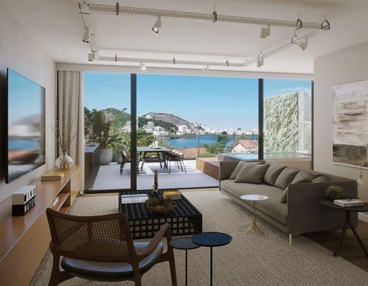 Living - Cobertura 4 quartos à venda Lagoa, Rio de Janeiro - R$ 9.415.111 - II-7823-16771 - 9