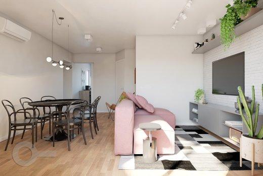 Living - Apartamento à venda Rua Bergamota,Alto da Lapa, Zona Oeste,São Paulo - R$ 814.000 - II-8112-17111 - 4