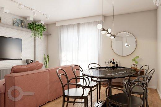 Living - Apartamento à venda Rua Bergamota,Alto da Lapa, Zona Oeste,São Paulo - R$ 814.000 - II-8112-17111 - 5