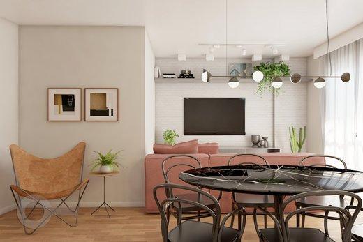 Living - Apartamento à venda Rua Bergamota,Alto da Lapa, Zona Oeste,São Paulo - R$ 814.000 - II-8112-17111 - 6