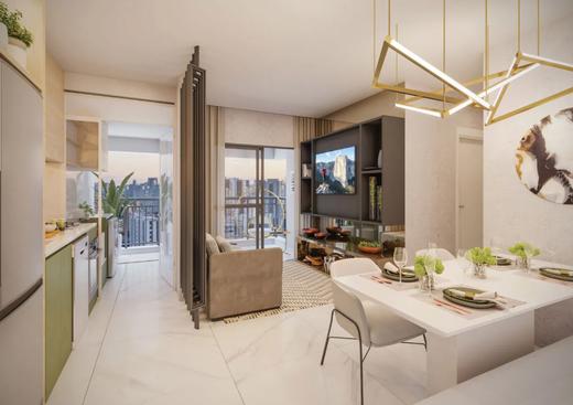 Living - Apartamento à venda Alameda dos Arapanés,Ibirapuera, São Paulo - R$ 1.007.900 - II-9123-18254 - 5