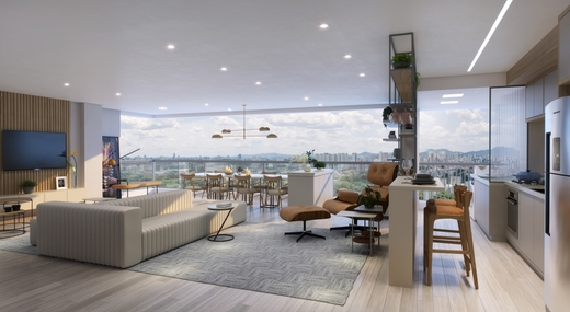 Living - Apartamento 4 quartos à venda Alto de Pinheiros, São Paulo - R$ 1.355.895 - II-10315-19725 - 5
