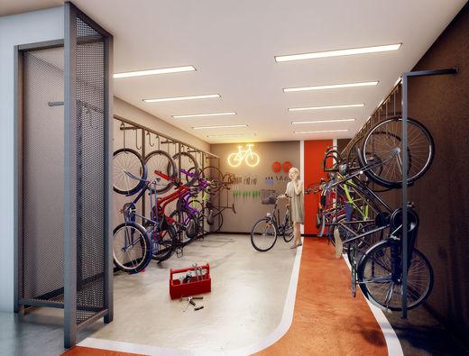 Bicicletario - Apartamento à venda Rua Silva Bueno,Ipiranga, São Paulo - R$ 346.891 - II-10801-20270 - 15