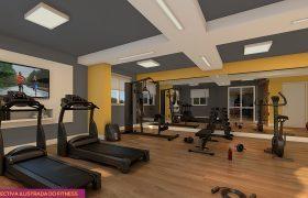 Fitness - Fachada - Pátio Central - Cores - 742 - 4