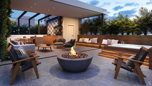 Fire place - Fachada - Casa Jardim - 755 - 11