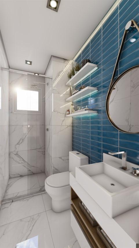 Banheiro - Fachada - Metrocasa Campo Limpo - 759 - 13