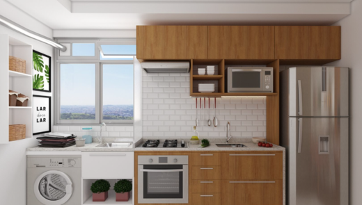 Cozinha - Fachada - Solar do Oeste I - 327 - 3