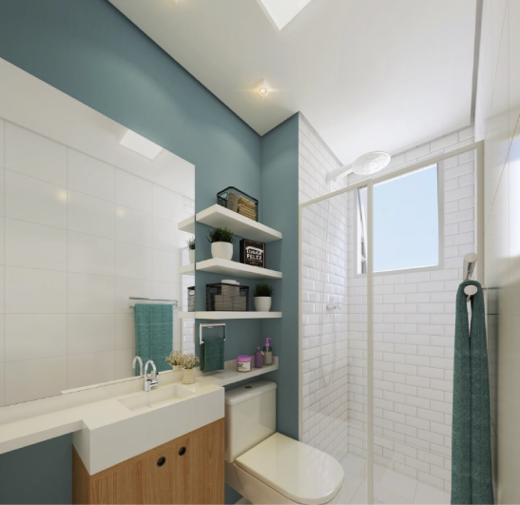 Banheiro - Fachada - Solar do Oeste I - 327 - 6