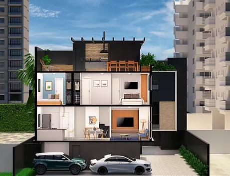 Corte vertical - Fachada - CUBE Áurea - 239 - 4
