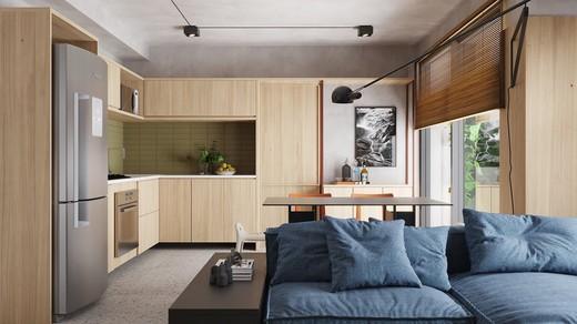 Living - Apartamento à venda Avenida Adolfo Pinheiro,Alto da Boa Vista, São Paulo - R$ 410.377 - II-14540-24501 - 5