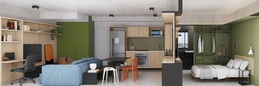 Living - Apartamento à venda Avenida Adolfo Pinheiro,Alto da Boa Vista, São Paulo - R$ 410.377 - II-14540-24501 - 7