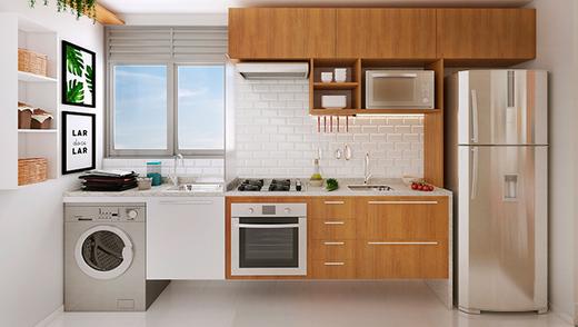 Cozinha - Fachada - Praia Park Sol - 293 - 4