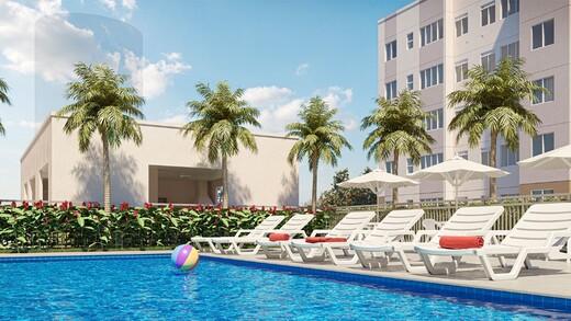 Piscina - Apartamento 1 quarto à venda Campo Grande, Rio de Janeiro - R$ 139.000 - II-16886-27662 - 12