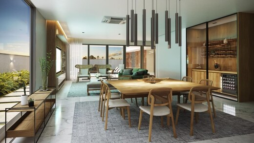 Living - Fachada - Casa 5 Condomínio Alphaville - 301 - 2
