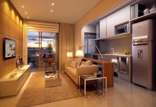 Living apto 62m2 - Fachada - Arte Arquitetura Pinheiros 2 - 2 - 3