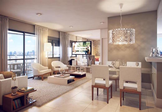 Living ampliado apartamento 68 - Fachada - Cyrela The Year Edition - 12 - 8