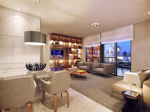 Living ampliado apartamento 92 - Fachada - Cyrela The Year Edition - 12 - 9