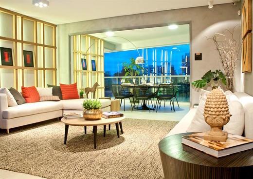 Living apartamento decorado 92 - Fachada - Cyrela The Year Edition - 12 - 10