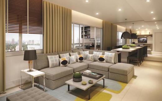 Living - Apartamento 3 quartos à venda Lapa, São Paulo - R$ 1.720.000 - II-1381-5342 - 5