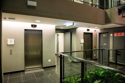 Hall de elevadores - Fachada - Arq Escritórios Moema - 24 - 11