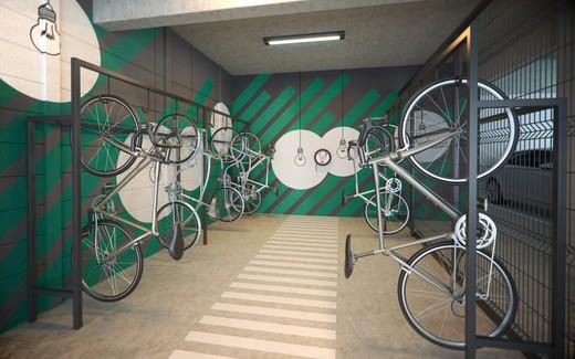 Bicicletario - Apartamento à venda Rua Doutor Samuel Porto,Saúde, São Paulo - R$ 836.995 - II-1425-5484 - 12