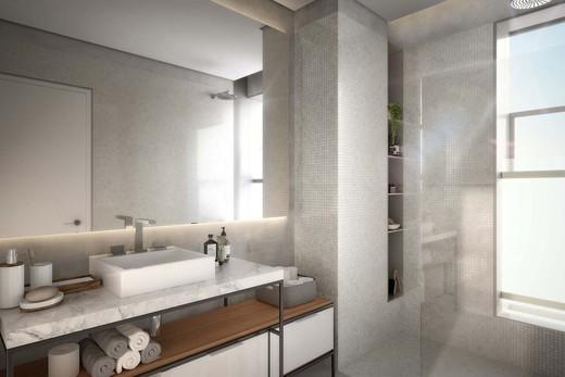Banheiro - Cobertura à venda Avenida Jurucê,Moema, São Paulo - R$ 2.171.121 - II-1444-5538 - 19