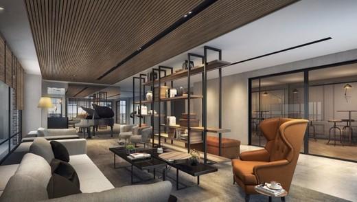 Lounge com biblioteca - Fachada - Jazz Perdizes - 313 - 11