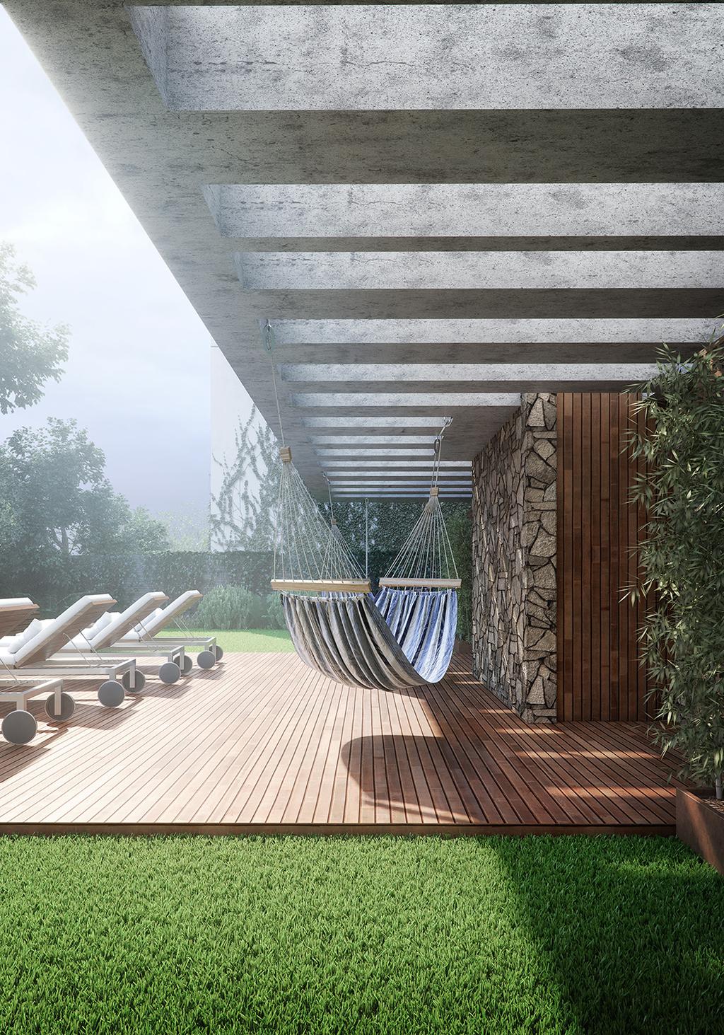 Uma arquitetura que convida a explorar as intersecções entre o ancestral e o contemporâneo, entre o natural e o urbano. Um projeto que une a arquitetura, arte e design. O empreendimento estabelece um novo patamar estético e técnico, que redefine padrões de conforto e eficiência termoacústica. São 16 lofts com 103.65 m (2 suítes) com pé direito livre de 2,70 m, com possibilidade de unificação em andar inteiro com 207,3 m (2, 3 ou 4 suítes), além da Penthouse com 215,95 m e pé direito livre de 3,90 m, 2 a 4 vagas. Todas as unidades são concebidas como planta livre, personalizável ao longo da obra.