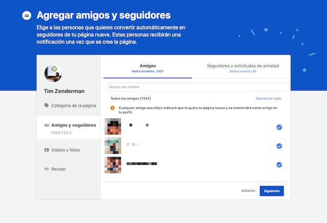Migración de Facebook Perfil a Fan Page - Paso 2