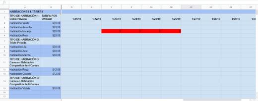 Excel Sheet - Actualizar Disponibilidad