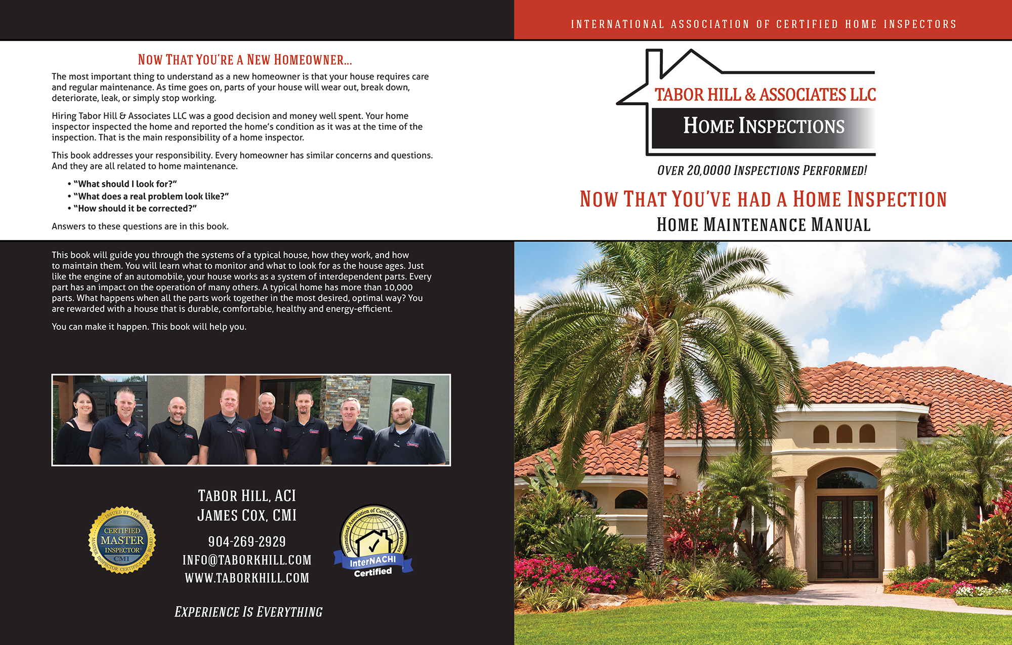 custom home maintenance book for tabor hill home inspections - inspection gallery