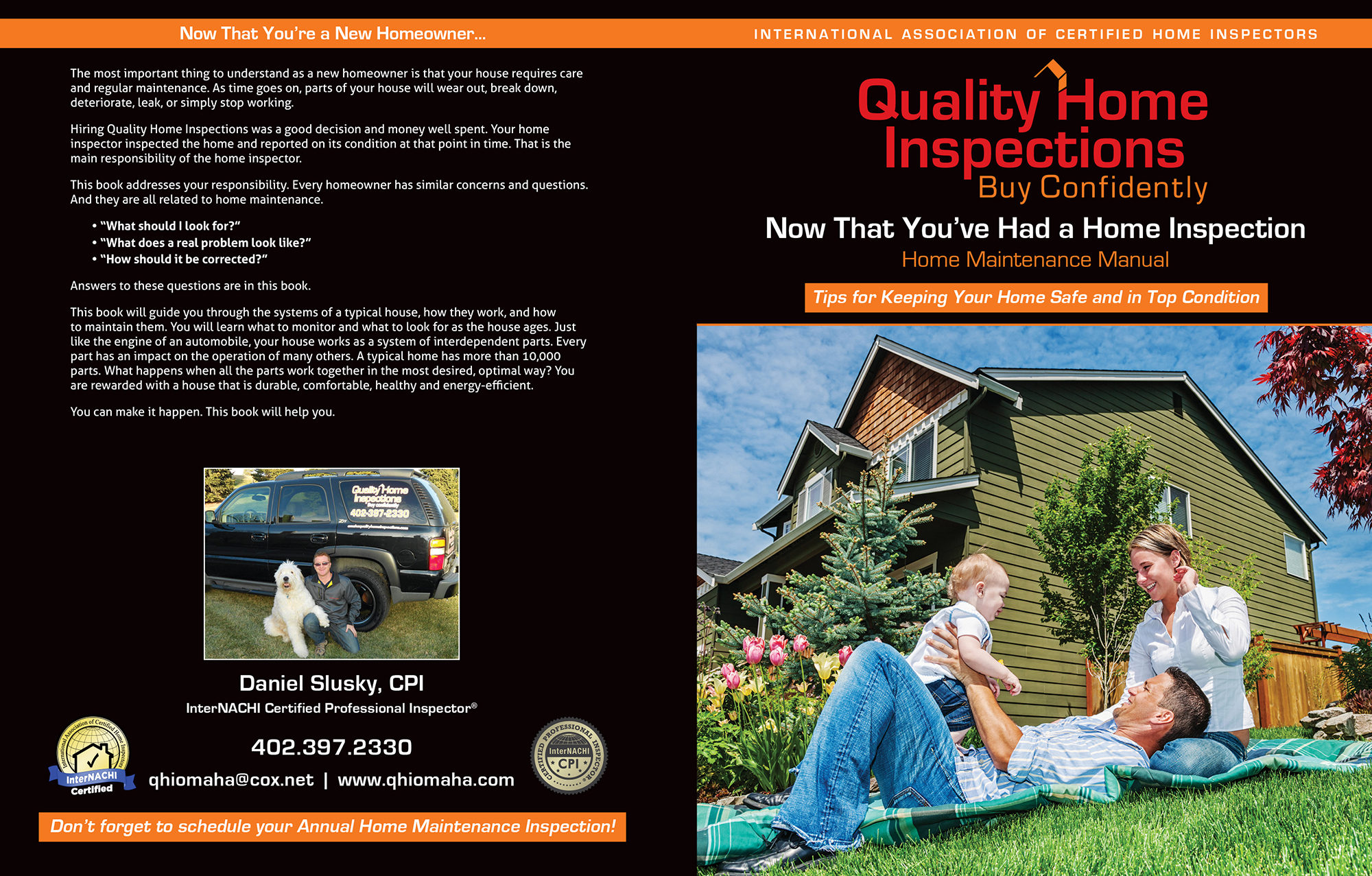custom home maintenance book for quality home inspections - inspection gallery