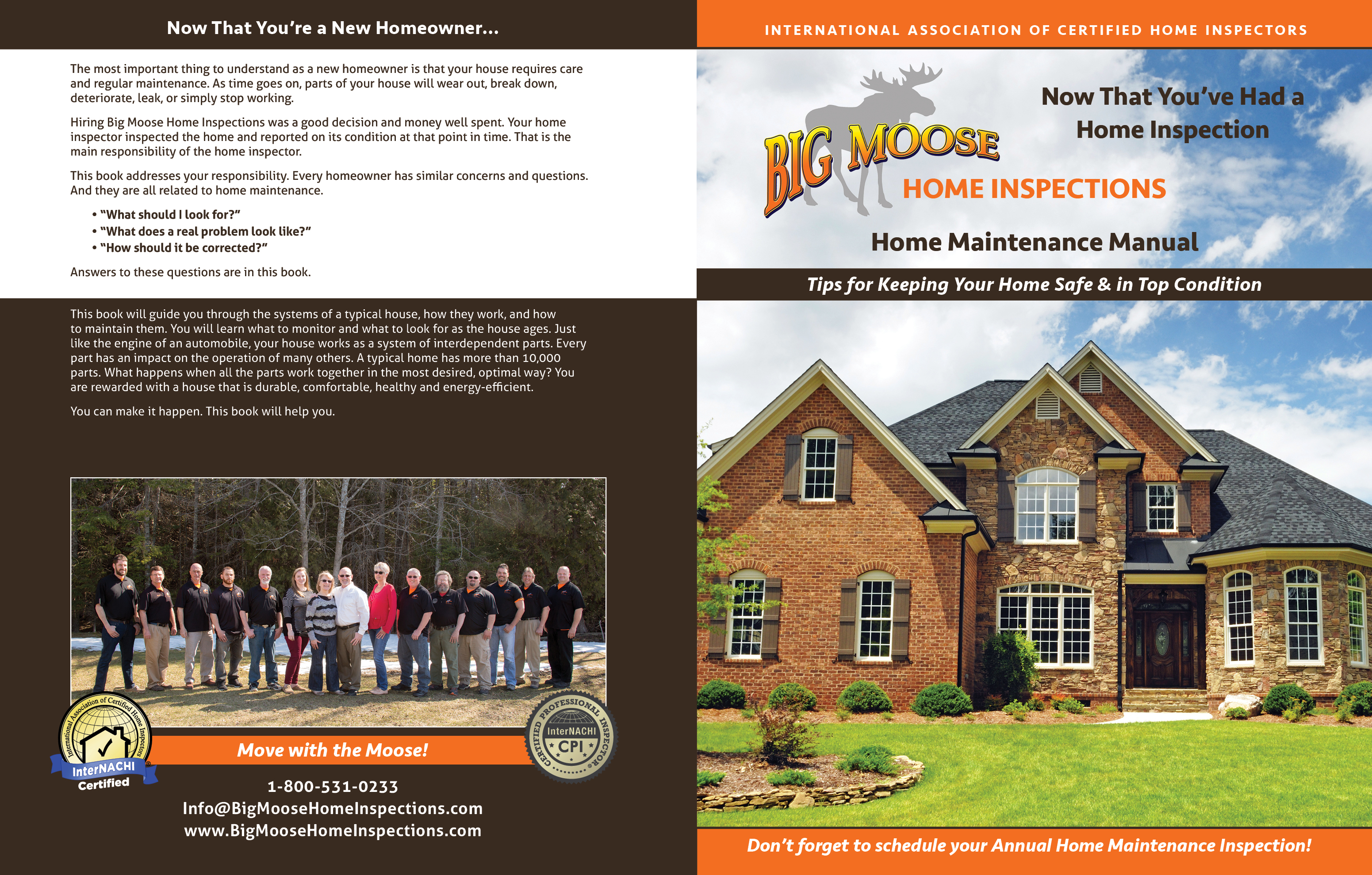 custom home maintenance book for moose home inspections - inspection gallery