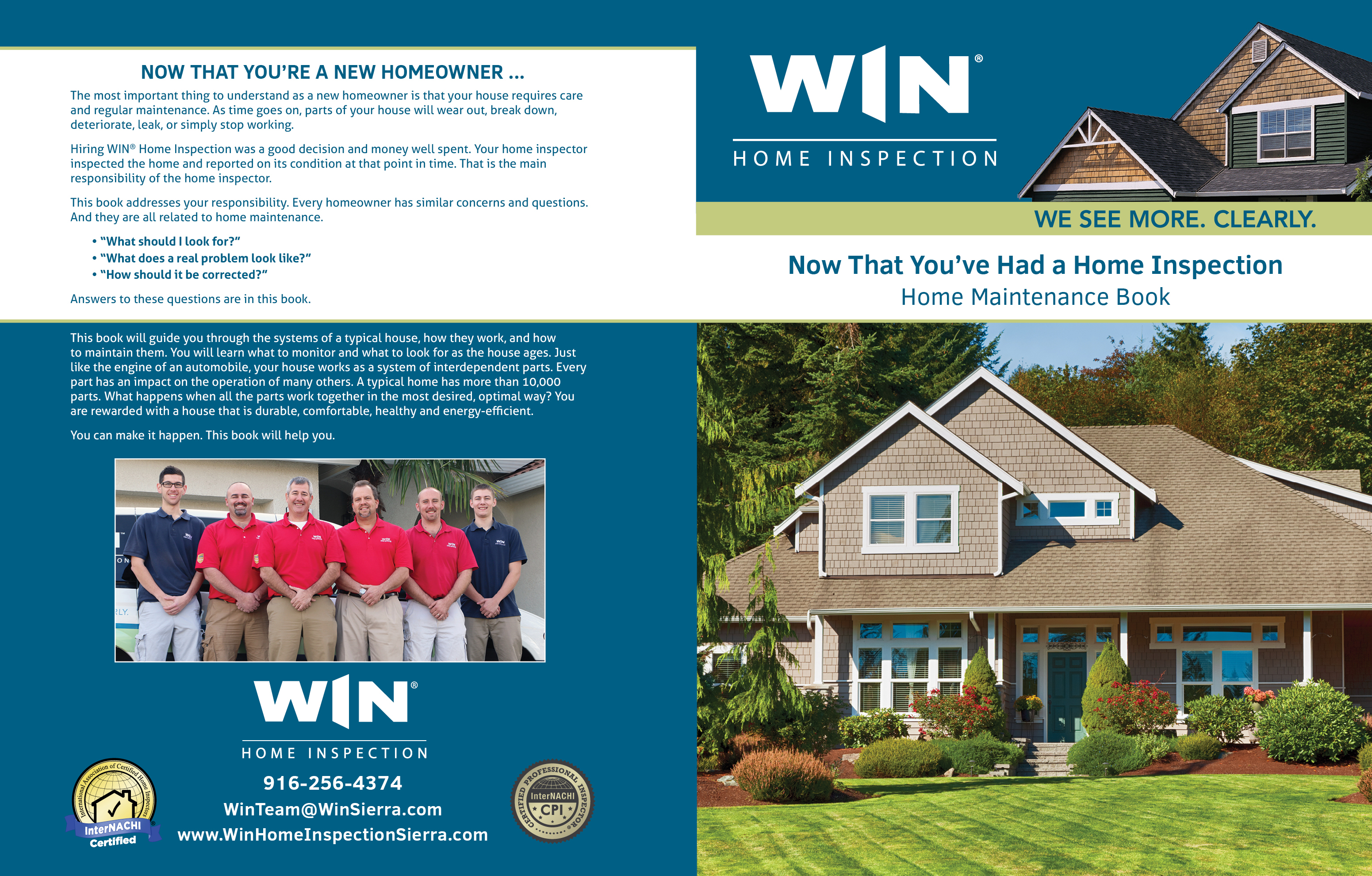 custom home maintenance book for win home inspection - inspection gallery