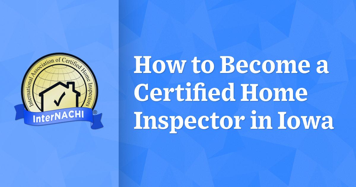 iowa inspector certified