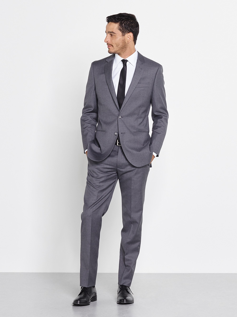 Tie Dress Code Grey Suit