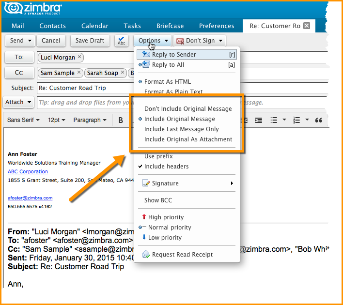 Did You Know? Change How Reply Text is Quoted - Zimbra : Blog