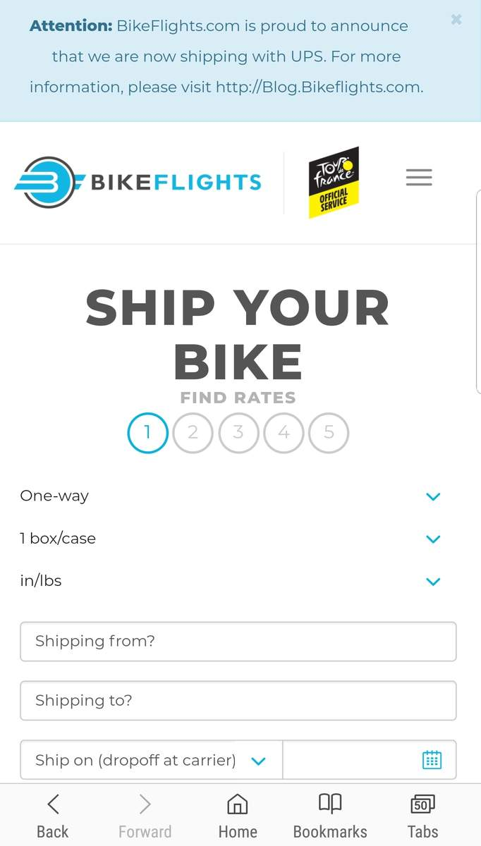 Bike Flights Now Only Using Ups Prices Way Up Bmxmuseum Com Forums