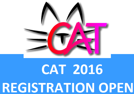 IIM's for the first time announces CAT REGISTRATION 2016;The online registration portal of CAT 2016 will be openon August 8, 2016  from 10.00 am. Lat date for fillingand submitting the CAT Application Form 2016 is till 5.00 pm on September 22, 2016.