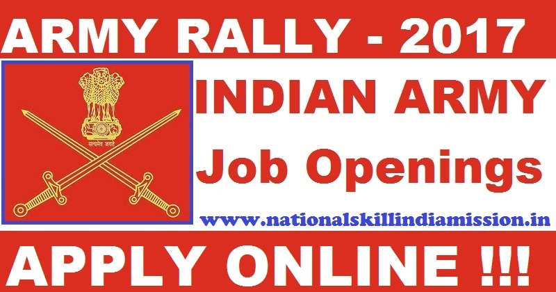 Indian Army Recruitment 2017-Rally In Chennai-Apply Online