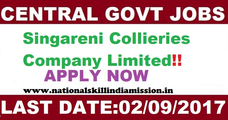 The Singareni Collieries Company Limited Recruitment 2017-For 665 Badli Workers in Telangana