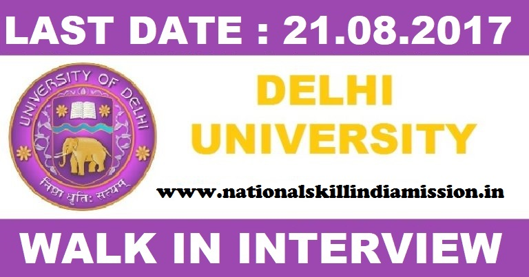 Delhi University Recruitment 2017-Guest Assistant Economics in Motilal Nehru College-Walk in Interview on 21 Aug 2017