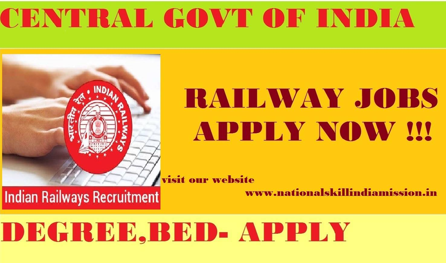 North Central Railway Recruitment-29 Vacancies-Lecturer (PGT), Assistant Teacher (TGT), Primary Teacher (PRT) Jobs-Apply Before 26 September 2017