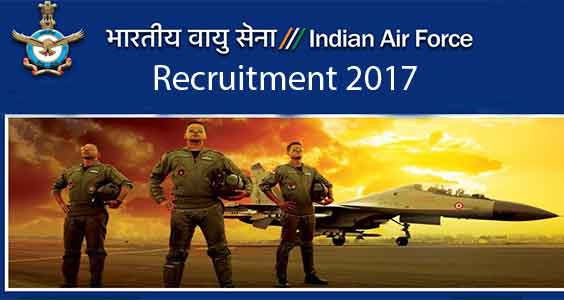 Indian Air Force Recruitment - Airman Group X (Technical) Trades and Airman Group Y (Non-Technical) Trades - Apply online - Last Date 12 January 2018